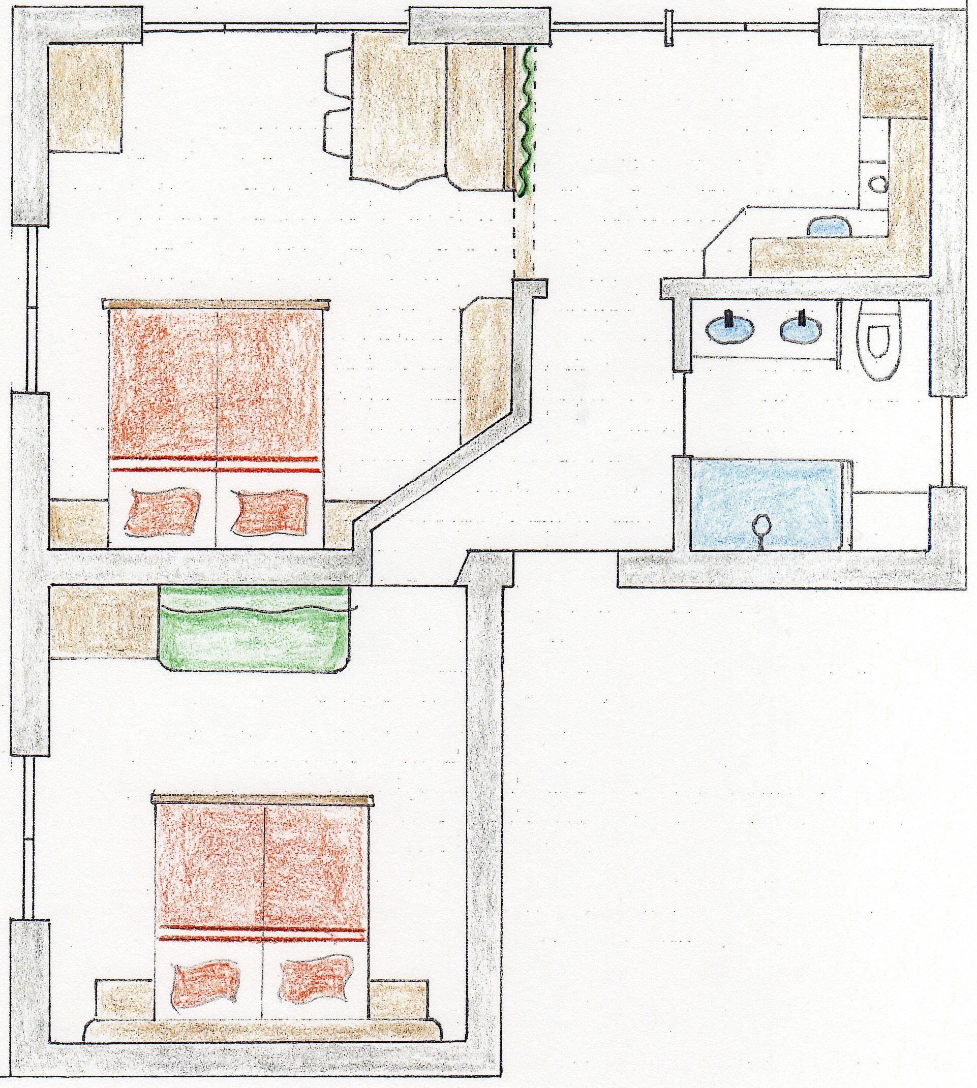 ferienwohnung iii f r 2 bis 4 personen im haus w ster in lech am arlberg. Black Bedroom Furniture Sets. Home Design Ideas